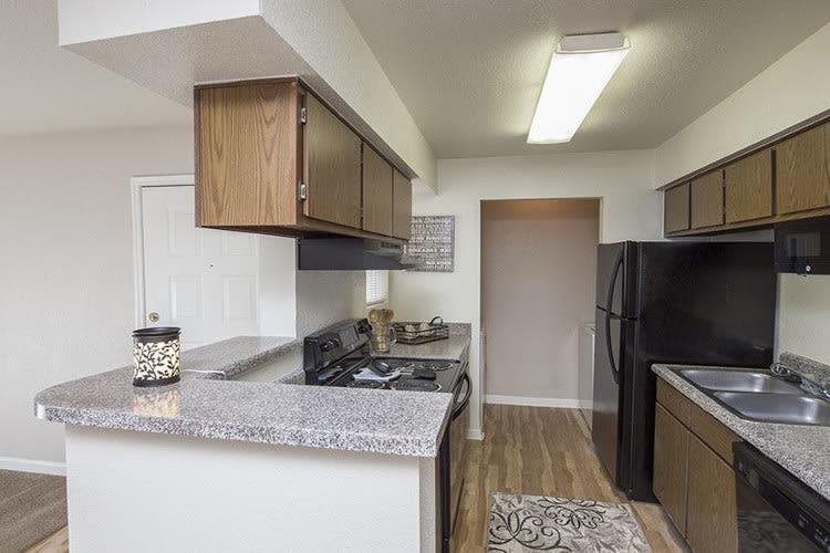 Enjoy a kitchen at Stone Ridge Apartments modern apartments
