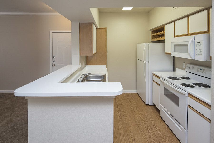 Our apartments in Texas City, TX showcase a modern kitchen