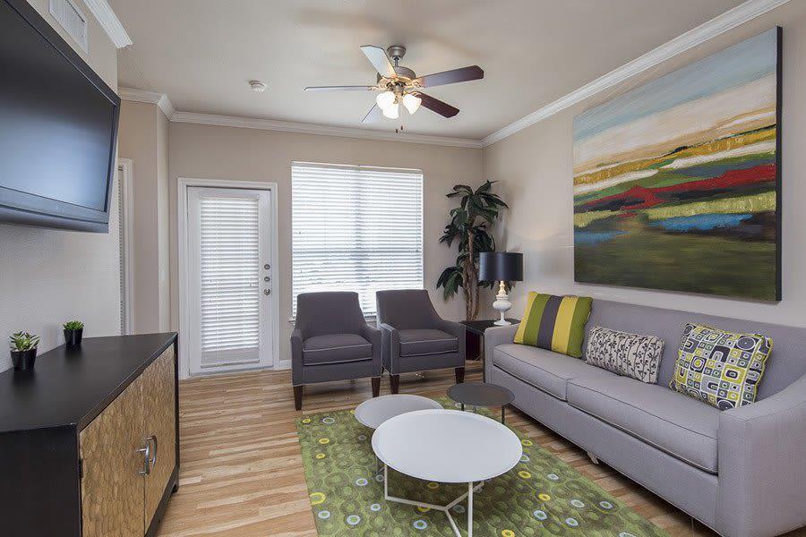 Luxury living room  at Veranda in Texas City, TX