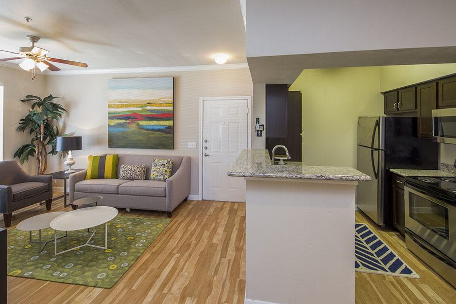 Spacious living room  at Veranda in Texas City, TX