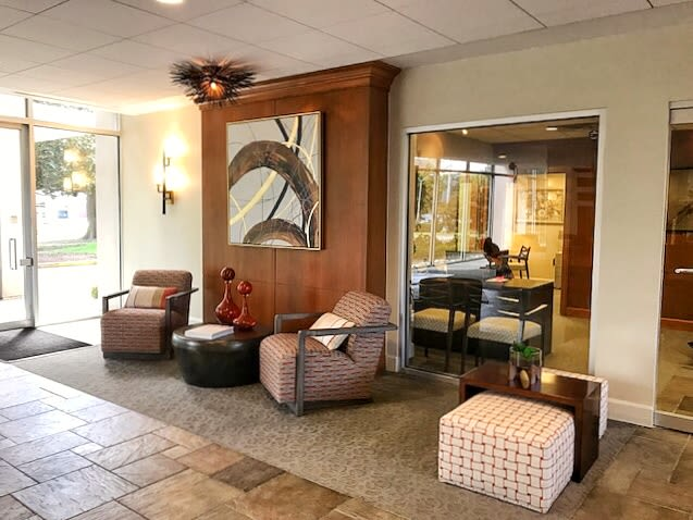 Lobby at Hague Towers in Norfolk, Virginia