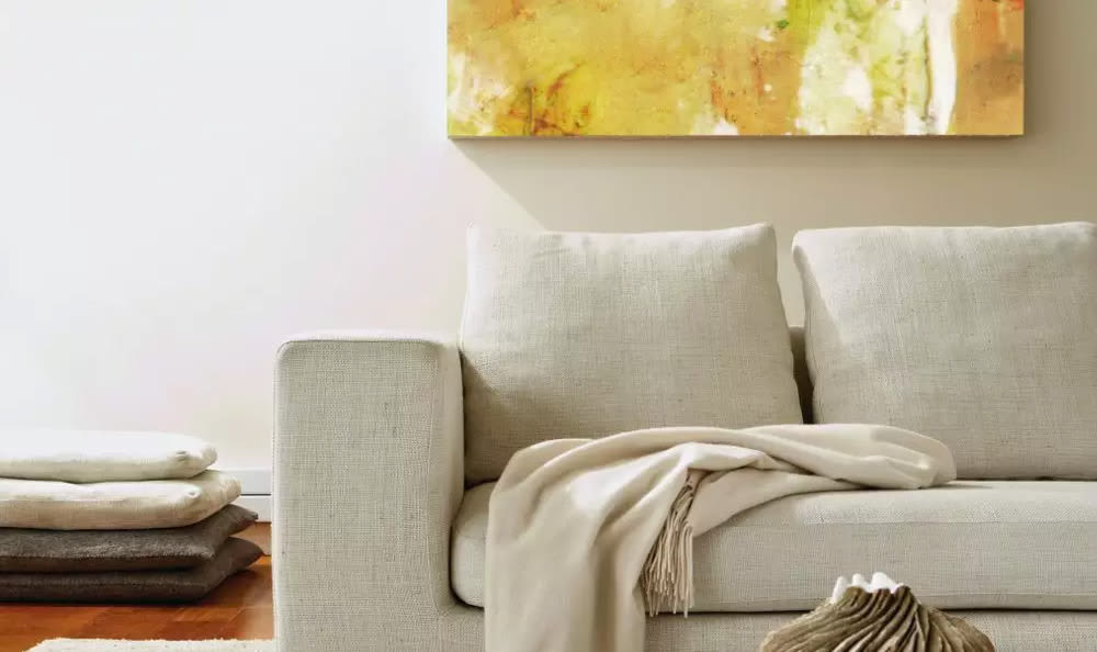Comfy couch at Woodland Acres Townhomes