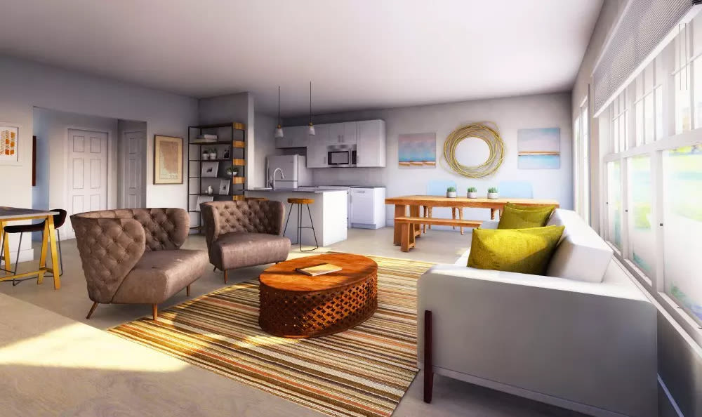 Our townhomes in Liverpool, NY showcase a luxury living room
