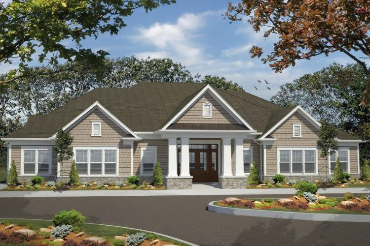 Townhome exterior view at Woodland Acres Townhomes in Liverpool, NY