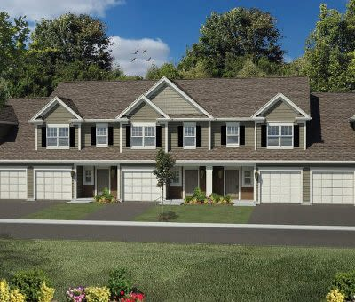 Exterior view of townhomes at Woodland Acres Townhomes in Liverpool, NY