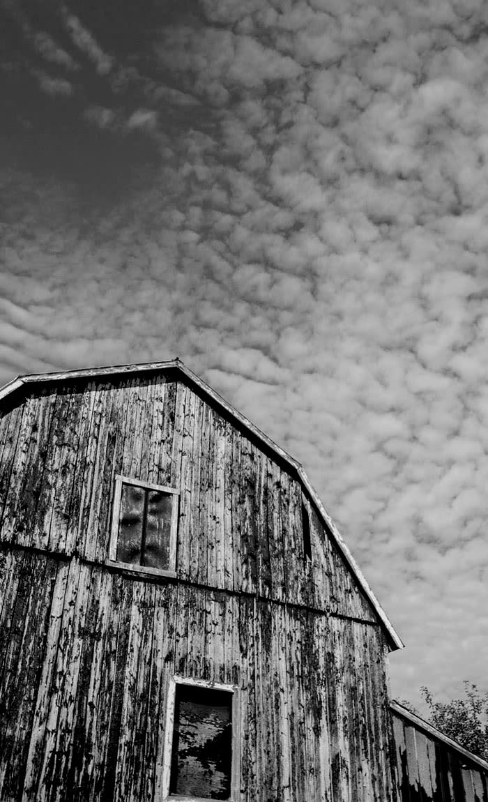 Black & white barn in North Carolina near Alta Blu