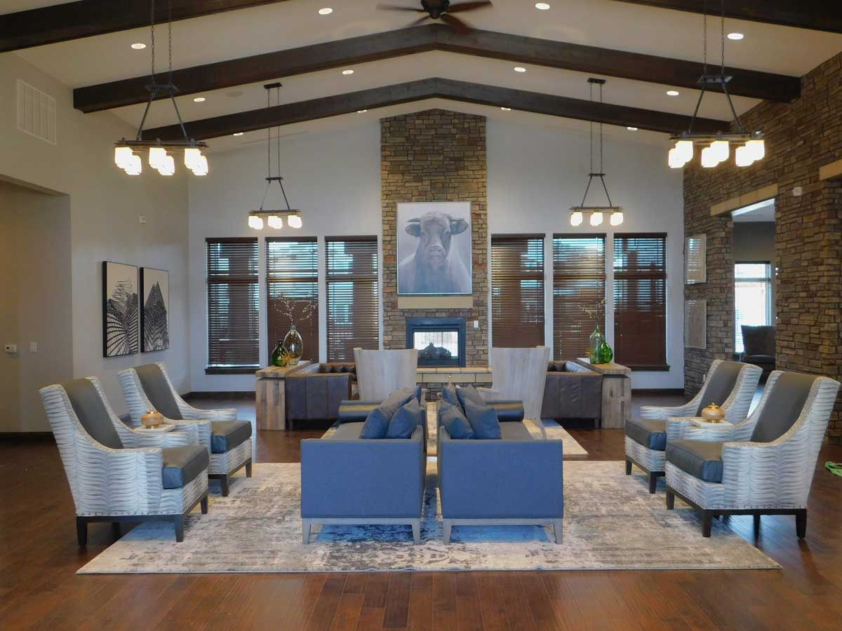 Inside a Overland Property Group clubhouse