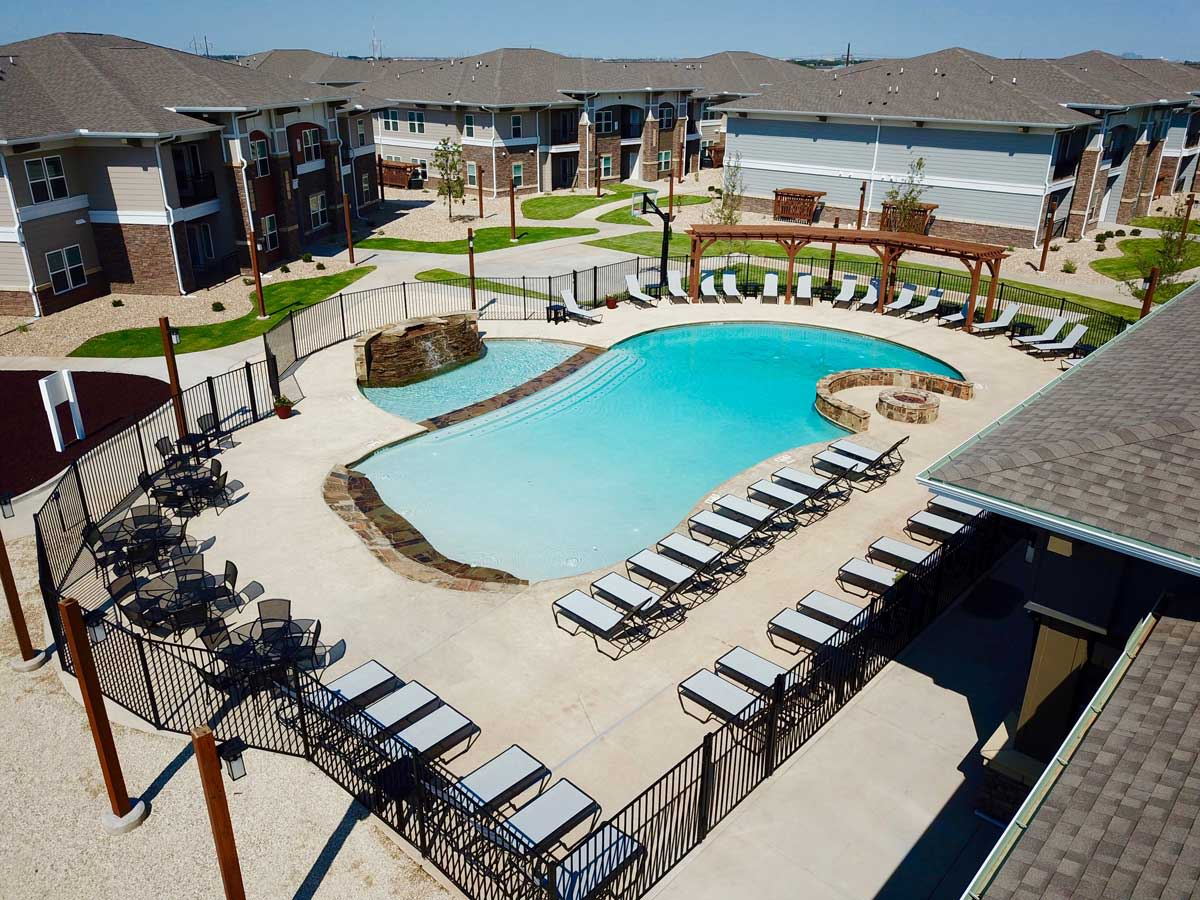 Pool at one of Overland Property Group's locations