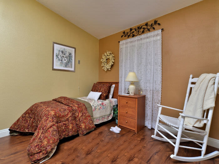 Comfy bed at Pacifica Senior Living Paradise Valley in Phoenix