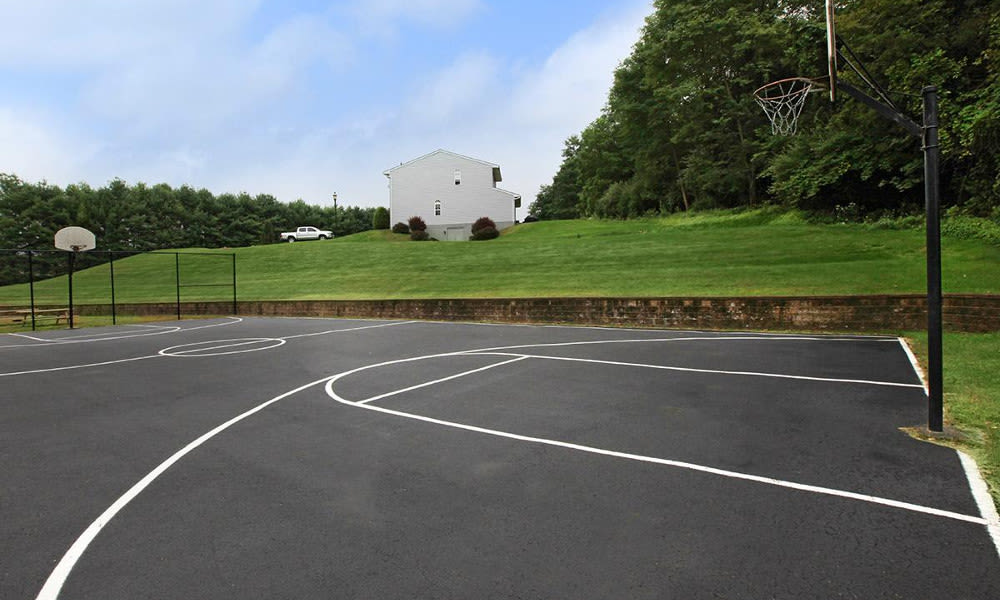 Basketball court at Village Park Apartments