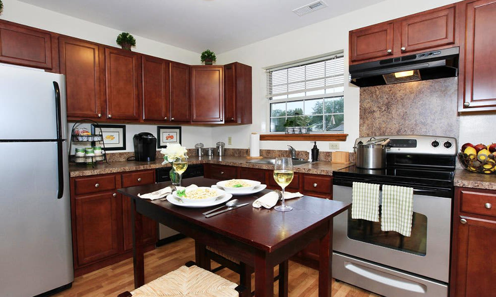 Village Park Apartments offers a fully-equipped kitchen in Pleasant Valley, NY