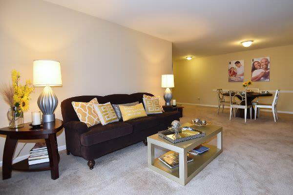Living room at Northampton Apartment Homes in Largo, MD