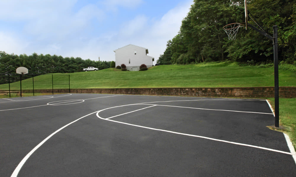 Basketball court at Village Park Apartments  in Pleasant Valley, NY