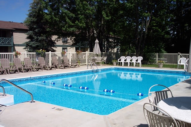 Sparkling swimming pool at Westminster Place Apartments in Liverpool, NY