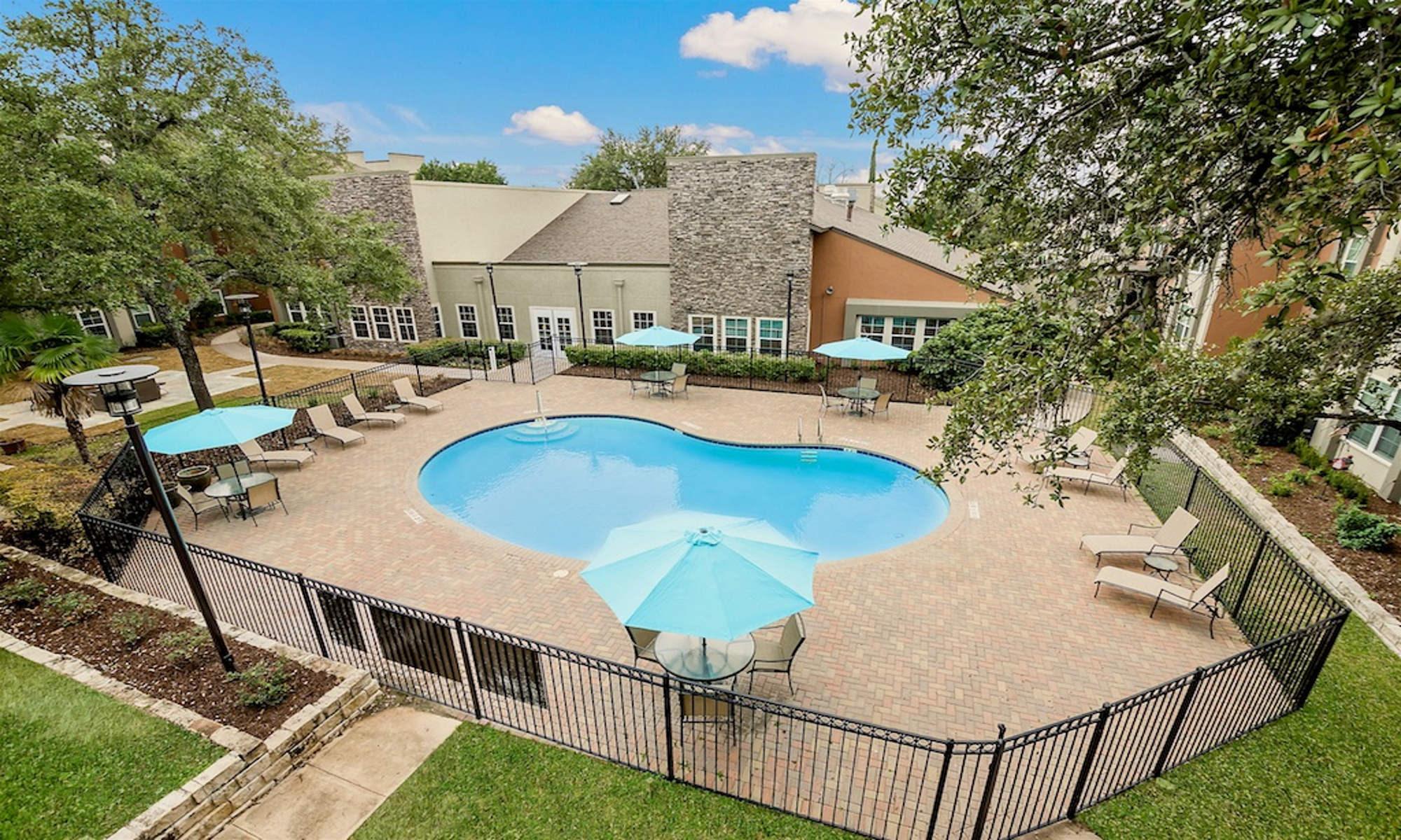 Luxury swimming pool at NewForest Estates in San Antonio, Texas