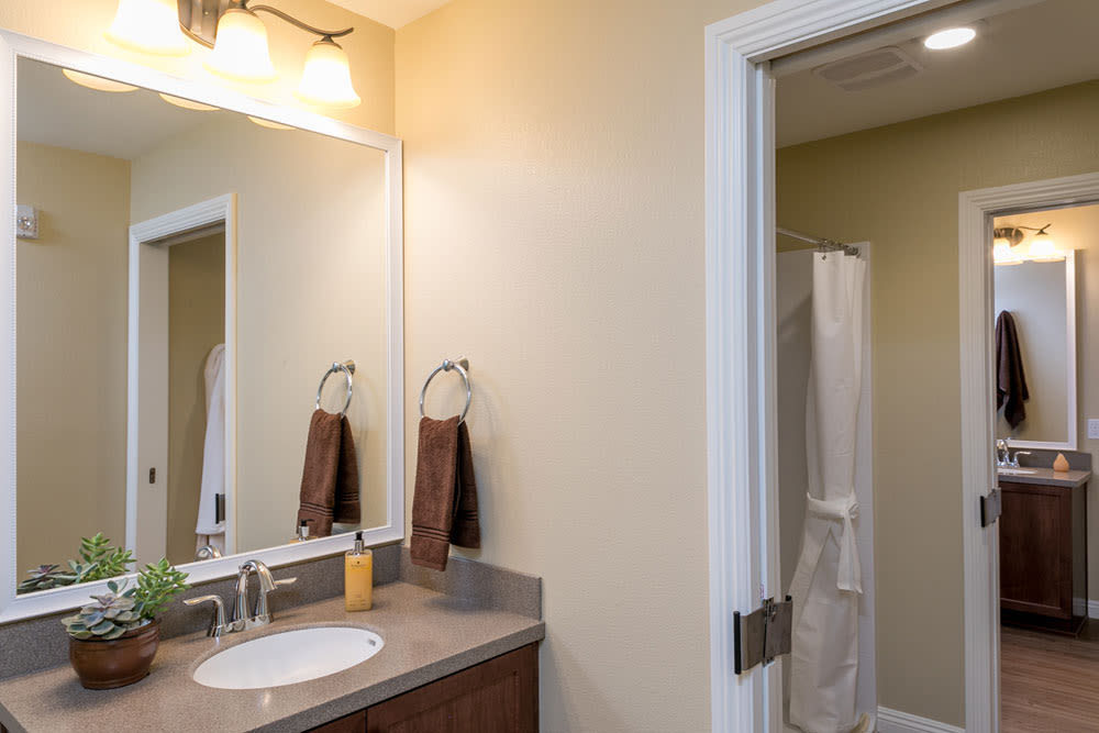 Bathroom at Mariposa at Ellwood Shores