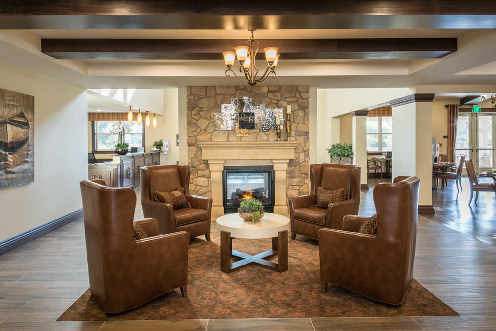 Fireplace at Mariposa at Ellwood Shores