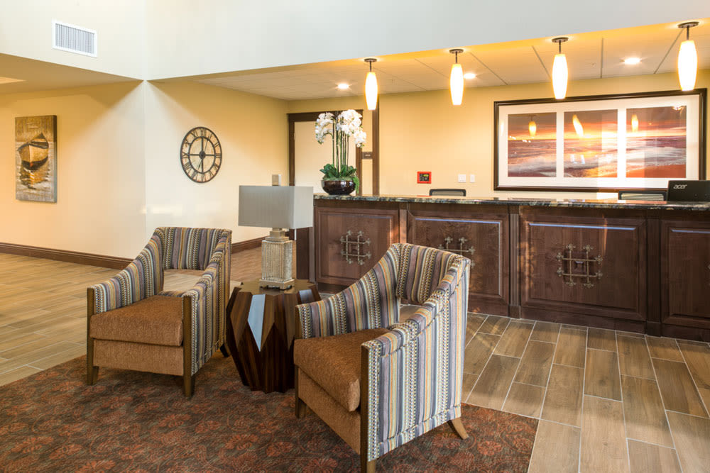 Lobby at Mariposa at Ellwood Shores