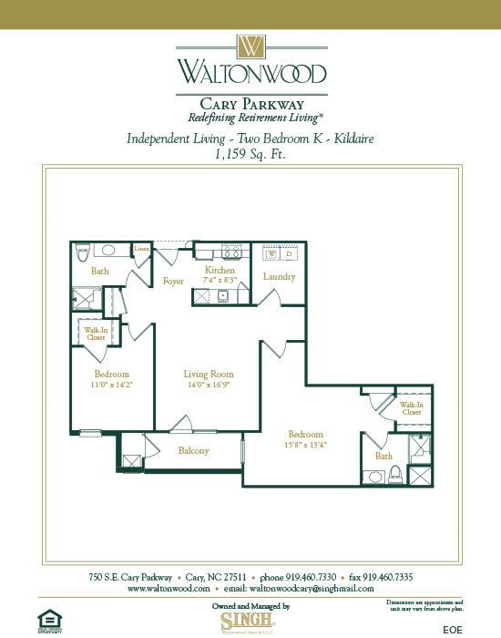 Senior Living Floor Plans – Senior Independent Living Floor Plans