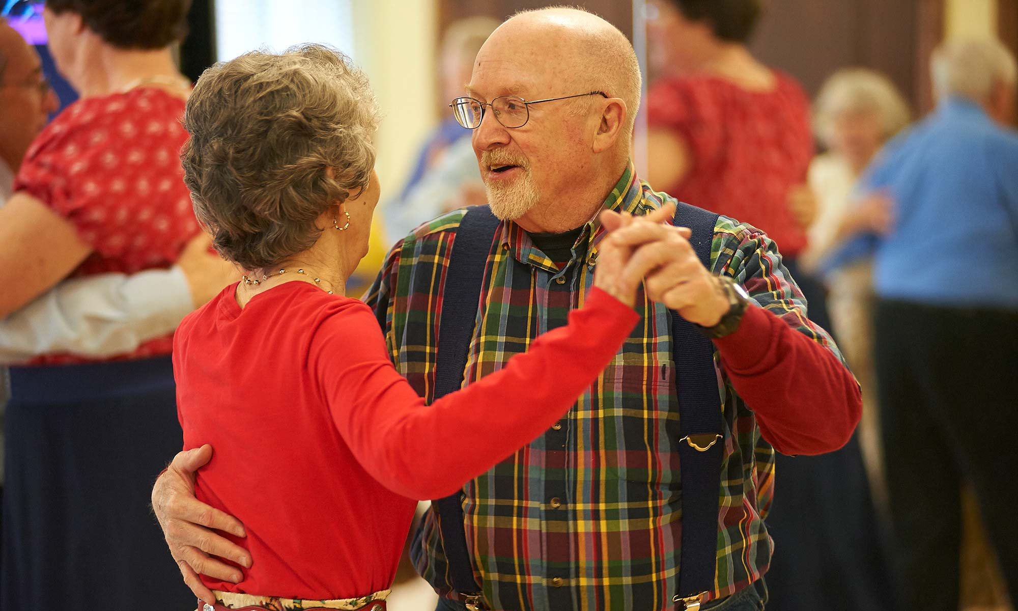 Residents dancing at Clermont Park