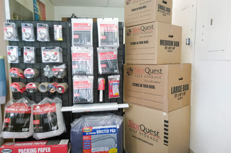 Storage Supplies at StorQuest Self Storage in San Rafael, CA