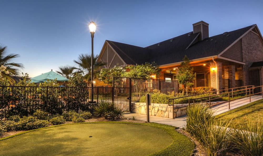 Golf course at night at Villas at Spring Trails