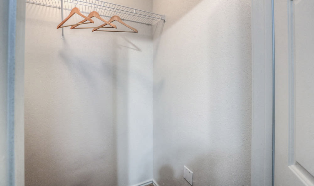 Walk-in closet at Stone Creek Apartments