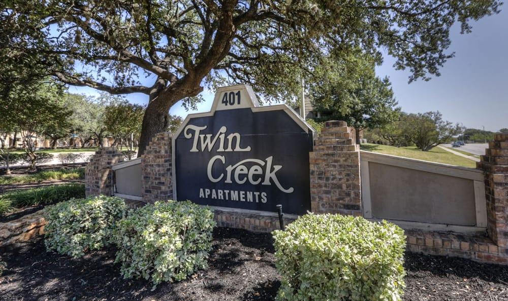 Sign at Twin Creek