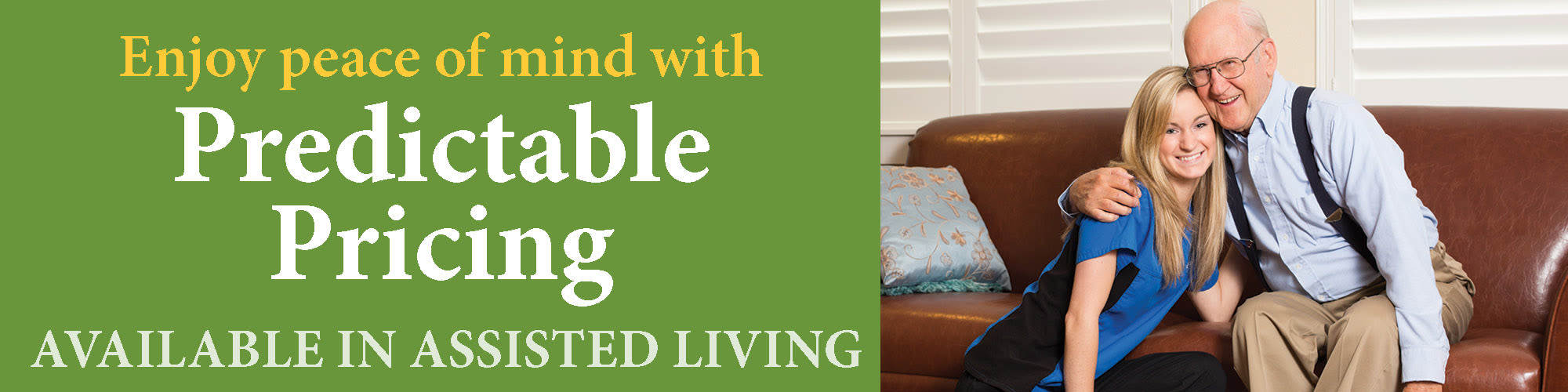 Enjoy peace of mind with predictable pricing