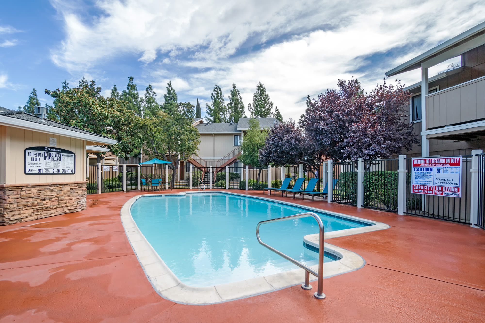 Swimming Pool Chairs at Sommerset Apartments in Vacaville, CA