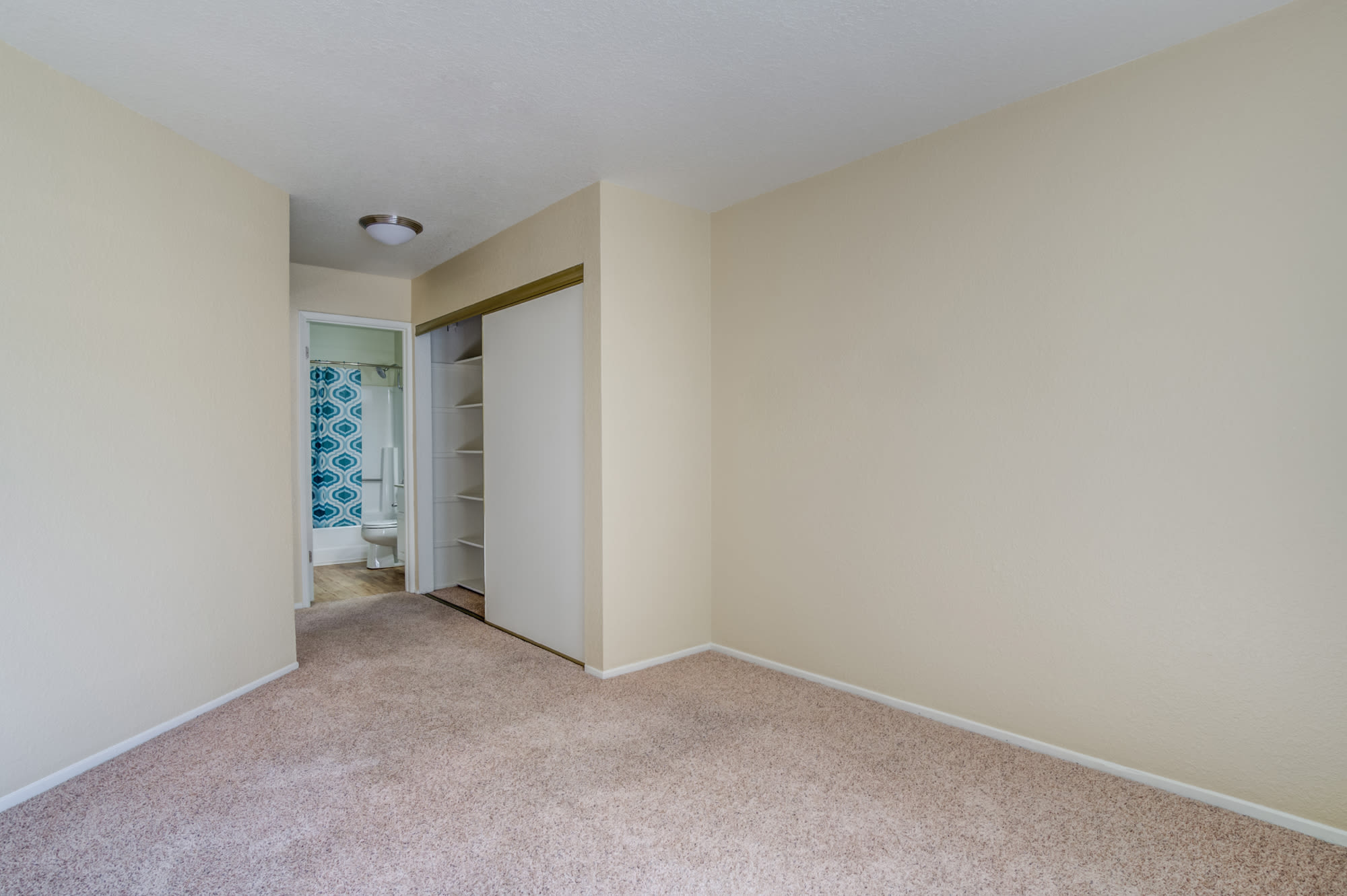 Empty Bedroom at Sommerset Apartments in Vacaville, CA