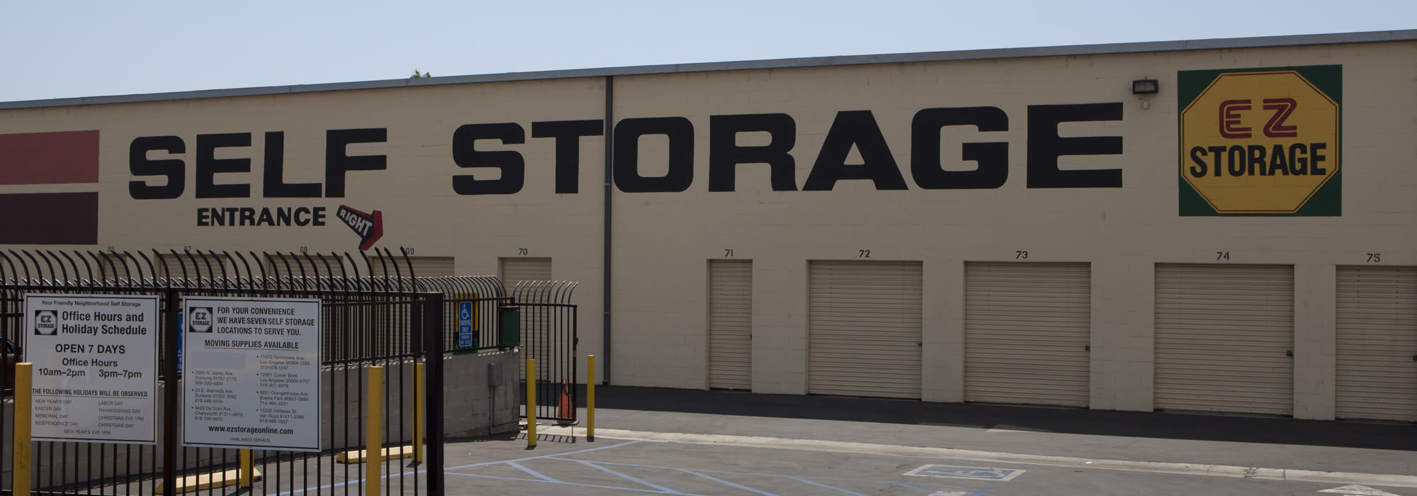 Self Storage In Burbank Ca