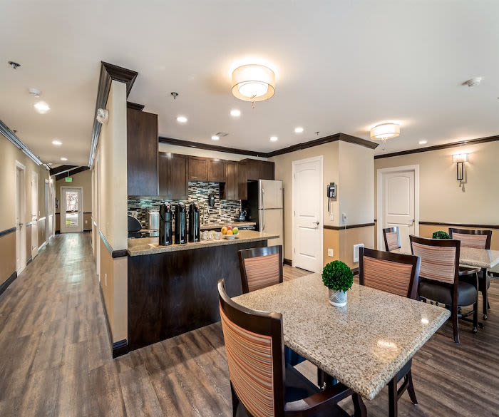 Kitchen at Pacifica Senior Living Lynnwood