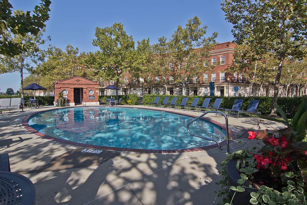 Pool at apartments in Columbus