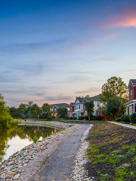 Great neighborhood at The Preserve at Beckett Ridge in West Chester, OH