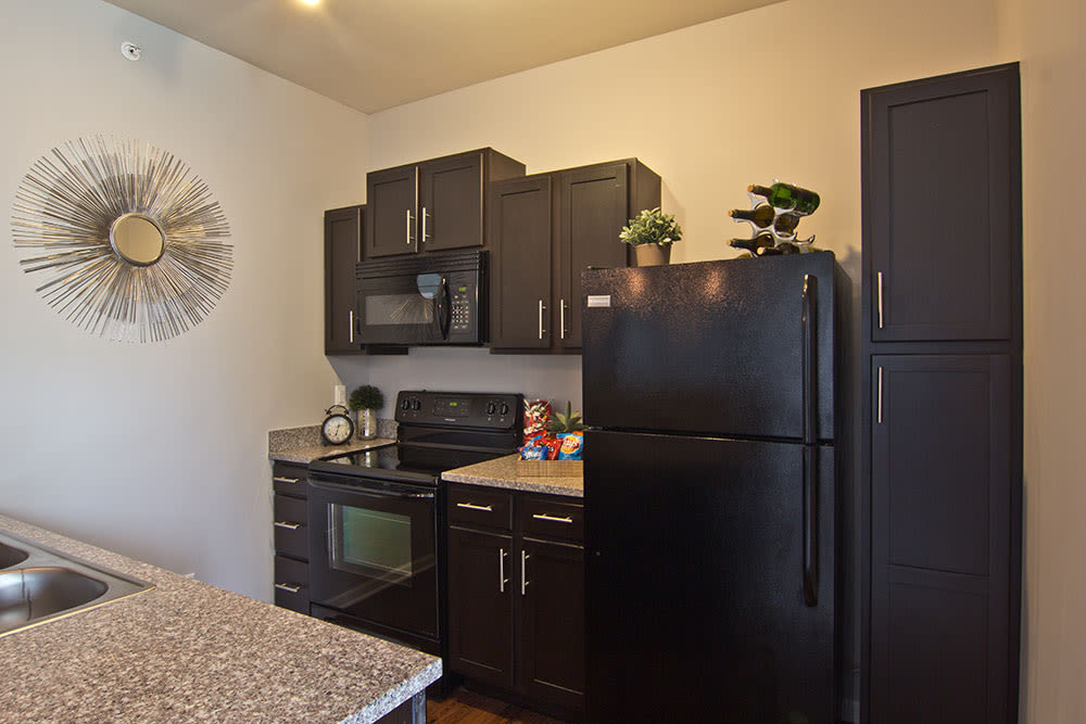 Kitchen at Overlook Apartments in Elsmere, Kentucky