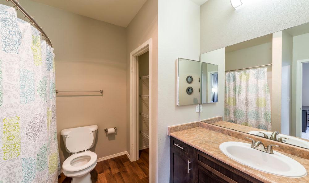 Master Bathroom at HighGrove Apartments in Everett, WA