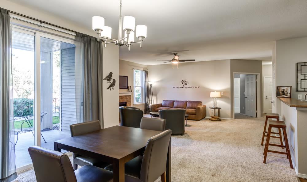 Living Room at HighGrove Apartments