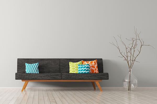 Modern living room & furniture at Lodge at West Oaks