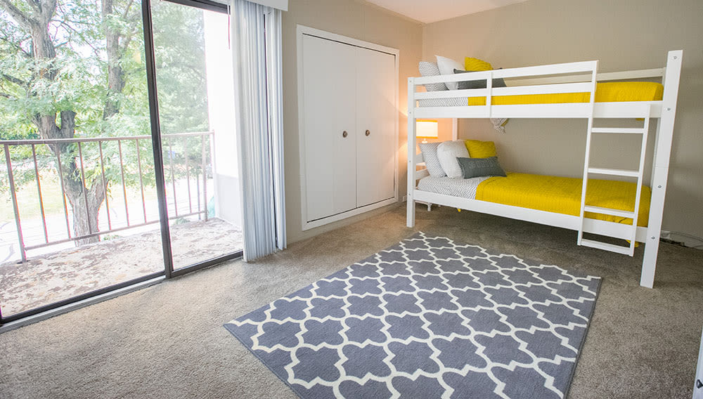 Generous sized bedrooms at Whitewood Apartments