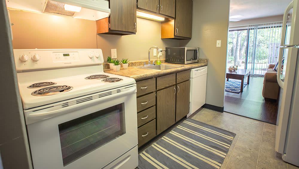 Kitchen at Whitewood Apartments
