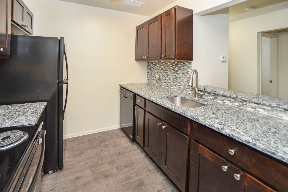 Spacious kitchen at Fox Run Apartments & Townhomes in Bear, DE