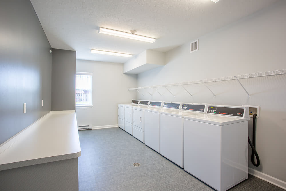 Our apartments in Rochester, New York showcase a beautiful laundry facility