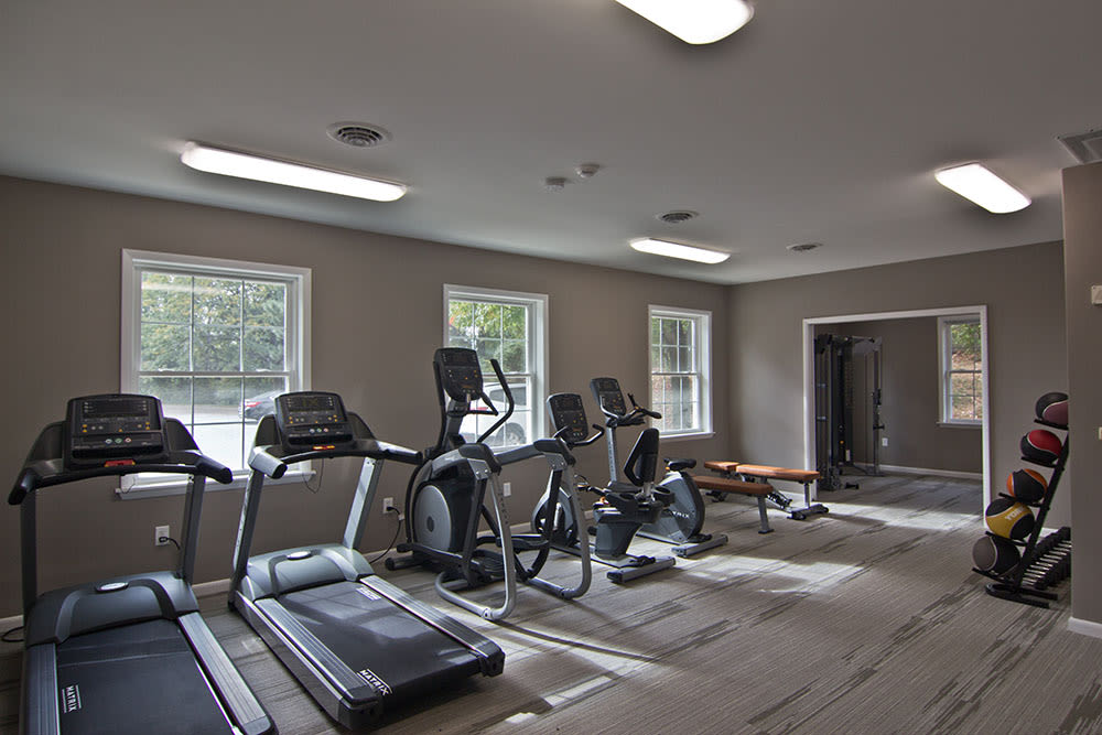 Fitness center at Eagle's Crest Apartments in Harrisburg, Pennsylvania