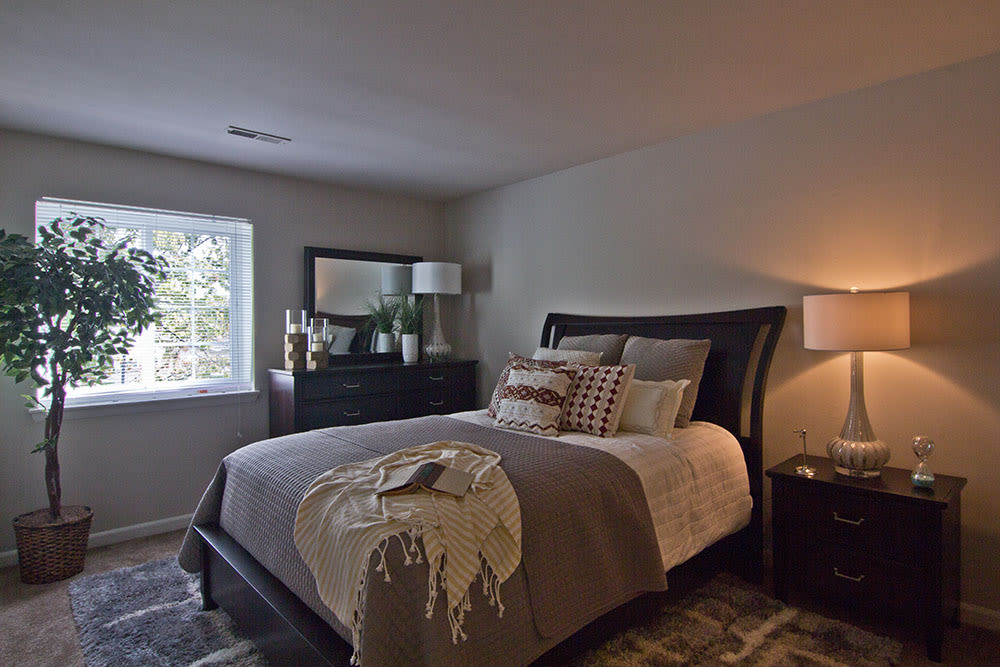 Beautiful bedroom at Eagle's Crest Apartments in Harrisburg, Pennsylvania