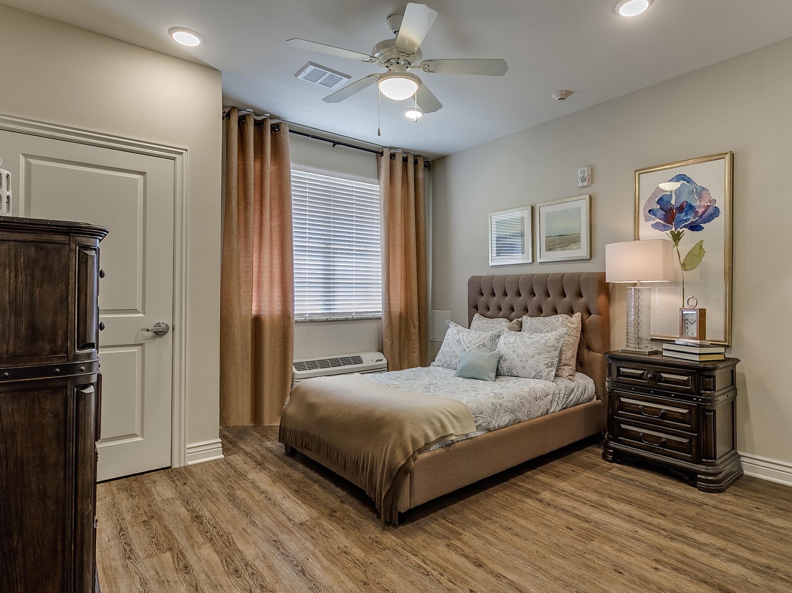 Beautiful bedroom at Iris Memory Care of Rowlett in Rowlett, TX