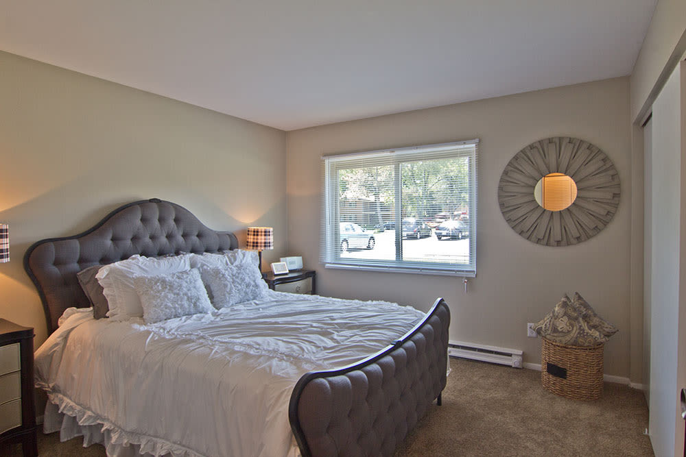 Comfortable bedroom in our apartments in Fort Wayne, IN