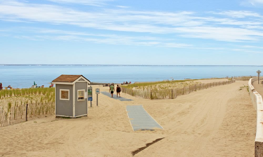 Beautiful beach that is great for entertaining at Monmouth Beach Village Apartment Homes in Long Branch, NJ