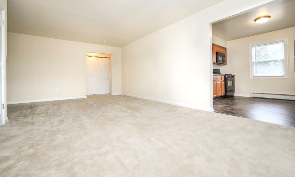 Monmouth Beach Village Apartment Homes offers a spacious living room in Long Branch, NJ