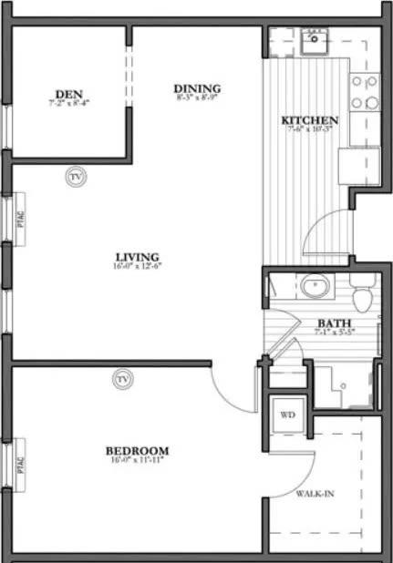 Spruce - 1 Bed Plus Studio